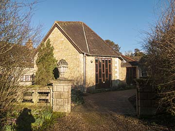 Main chapel from the garden