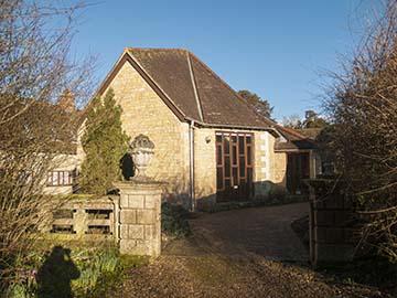 Main chapel from the garden