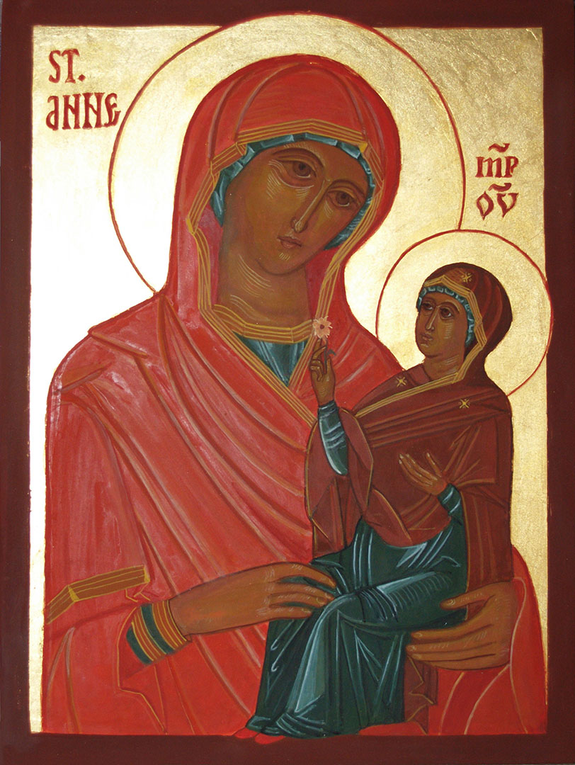 icon of St Anne, mother of Mary
