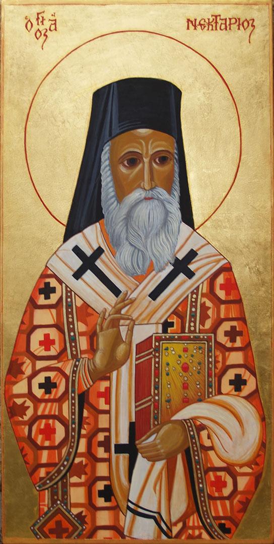 icon of St Nectarios