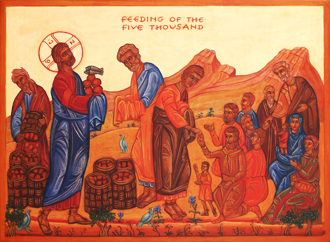 icon of the feeding of the five thousand