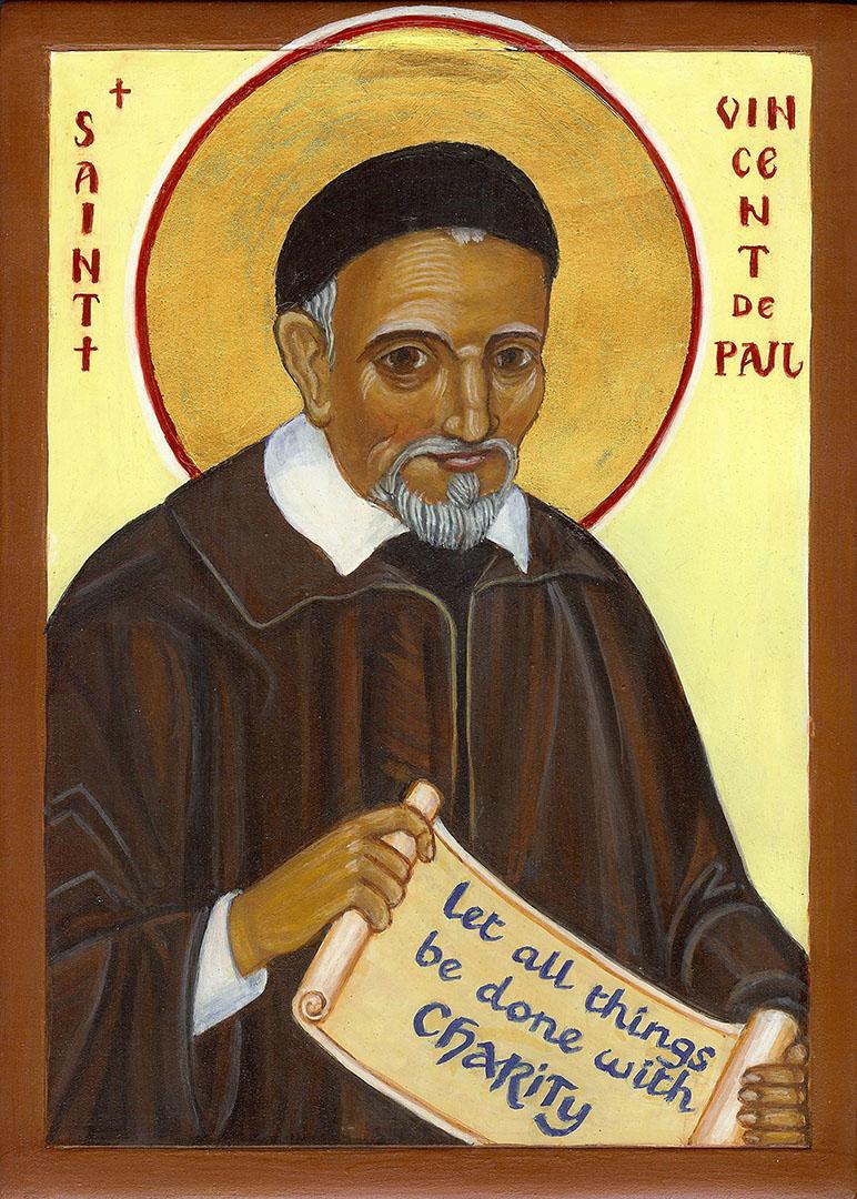 icon of St Vincent de Paul